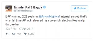 Bagga's tweet