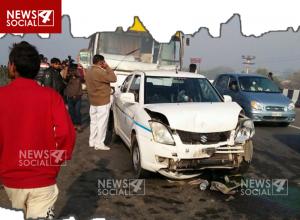 आगरा-जयपुर हाइवे पर हुआ भीषण सड़क हादसा